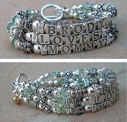 Mothers Bracelet Mommy Bracelets Children S Name Bracelets