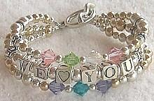 handmade beaded bracelet for grandmother