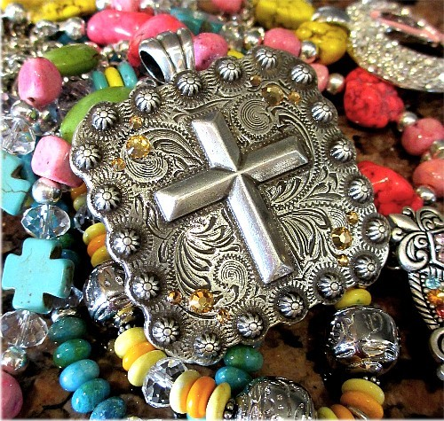 Funky Chunky Jewelry, Cowgirl Style Jewelry, Bracelets & Earrings