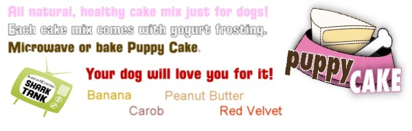 puppy cake, cupcakes & cake mix for dogs at something2bragabout.com
